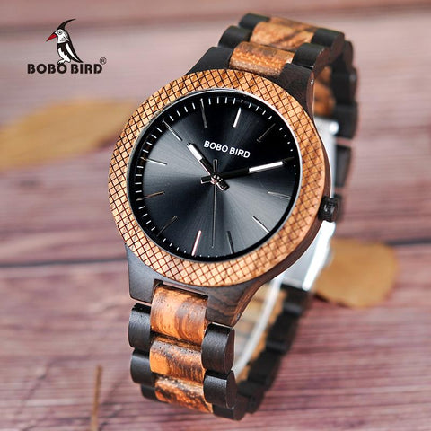ELEGANT MENS WATCHES MADE OF WOOD, MODEL 2018