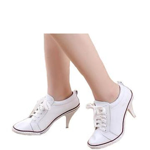High Heel Shoes Round Toe Pure Color