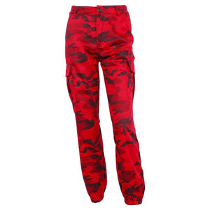 Red Camouflage Pants