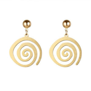 """DOWN WITH THE SWIRL"" DANGLE EARRINGS FOR WOMEN"