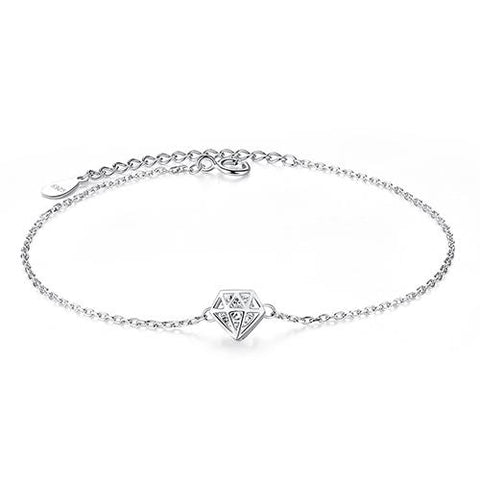 Diamond Bracelet 925 Sterling Silver