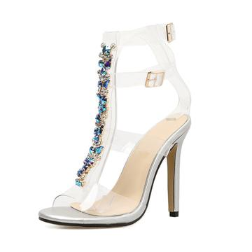 Crystal Transparent Heels
