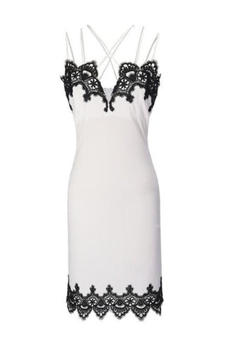 FOR THE LOVE LACE TRIM PARTY DRESS