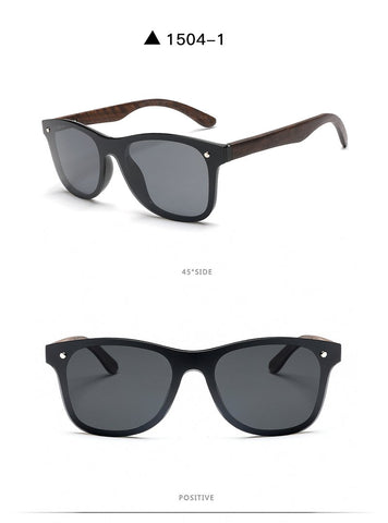 BetterForWood Brand Unisex Designer Sunglasses Rimless Mirrored One Piece Style Polarized Lenses