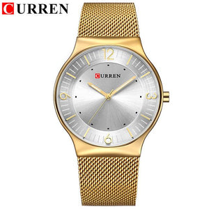CURREN 2018 New Fashion Simple Business Men Watches