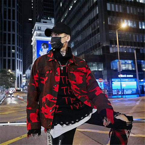 BLOOD CAMO Denim Jacket