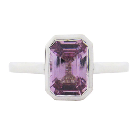BEZEL SET RING WITH PURPLE SAPPHIRE