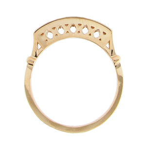 BRIDGE WEDDING BAND IN YELLOW GOLD WITH BRILLIANT DIAMONDS
