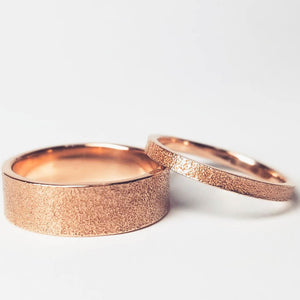 6mm Sand Wedding Band in 10k or 14k gold