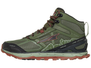 Altra Lone Peak 4.0 Mid Mesh Men's Shoes Ivy Green/Red
