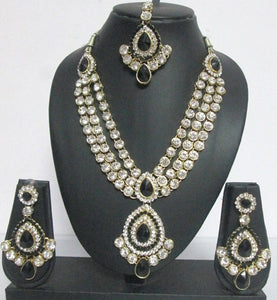 Bridal Black Necklace Set