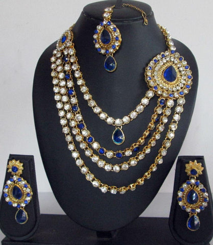 Bridal Blue Crystal Set