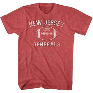 USFL New Jersey Generals Red Mens T-Shirt