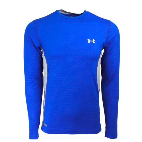 Under Armour Men's HeatGear Sonic Printed L/S Tee