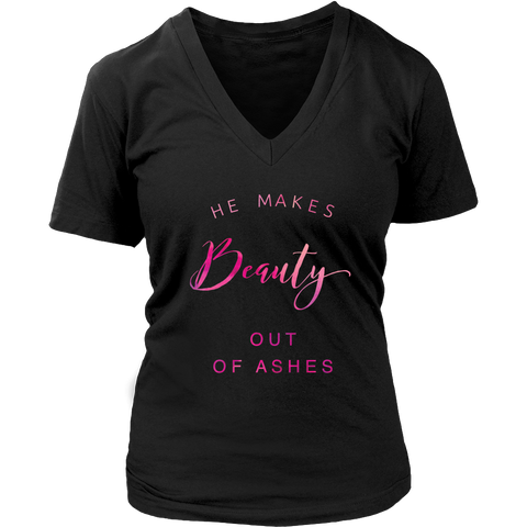 Beauty Out Of Ashes | Christian's Women's Tee, V-Neck, Racerback Tank, Crewneck Sweatshirt & Hoodie