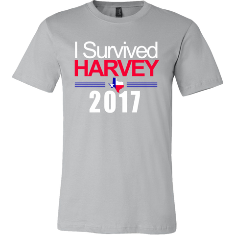 I Survived Harvey 2017 T-Shirt - Commemorative Texas Hurricane Tee - Unisex Tropical Storm Shirt