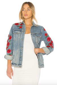 GRLFRND DARIA OVERSIZED DENIM JACKET
