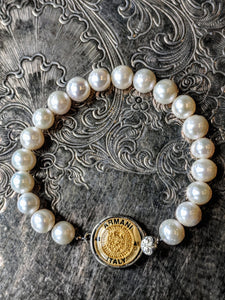 Armani Single Pearl Bracelet