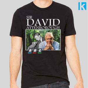 Sir David Attenborough BBC Documentary Retro T-Shirt Unisex Tee S-3XL Louis Theroux Blue Planet Earth