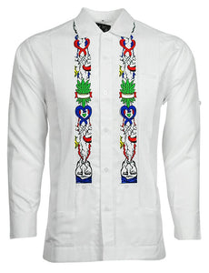 WHITE LUX & SMOKE ONE GUAYABERA