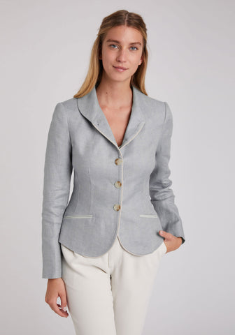 Alexander Jacket in Pale Blue Linen