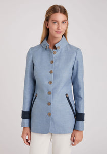 Hendre Jacket in Soft Blue