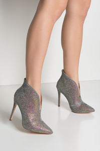 STARRING YOU GLITTER CURVED BOOTIES