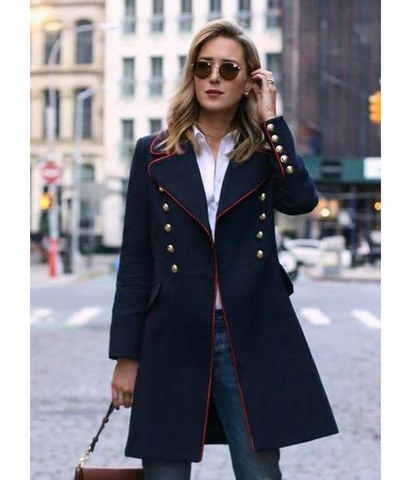 Stella Navy Coat