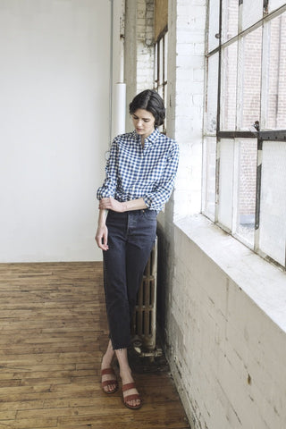 Marine Gingham Shirt