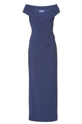 LEANDRA NAVY CREPE MAXI DRESS