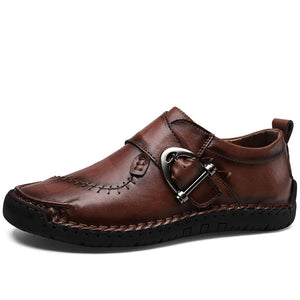 Men's Four Seasons Handmade Buckle Leather Driving Shoes