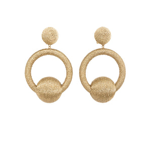 REBECCA DE RAVENEL	HOOP LA LA EARRINGS
