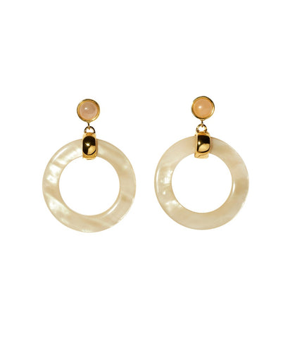 LIZZIE FORTUNATO SUN BLEACHED HOOP EARRINGS