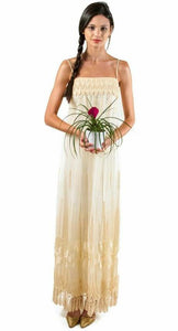 Alfred Bosand Fringe Gown