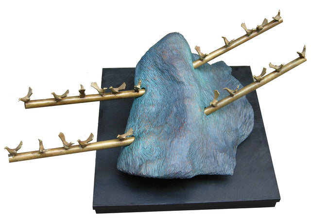 Harmony bronze and wood sculpture