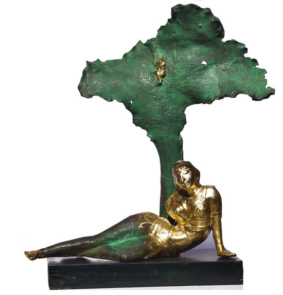 Radha in bronze sculpture