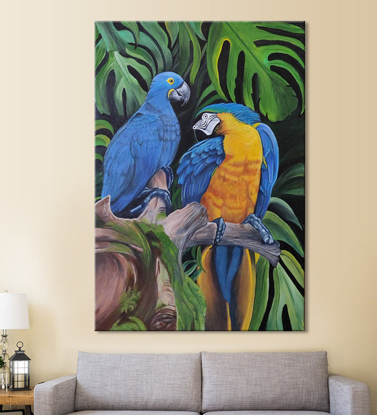 Blue Macaw Painting by Shruti Malik