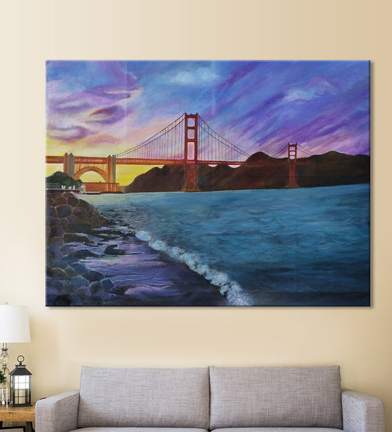 Golden Gate Painting by Shruti Malik