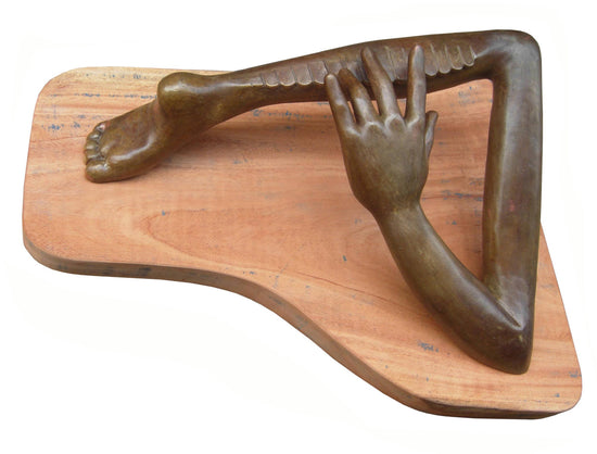 Synchronisation bronze sculpture