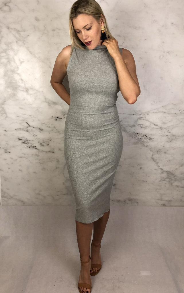Jules Jersey Dress Grey