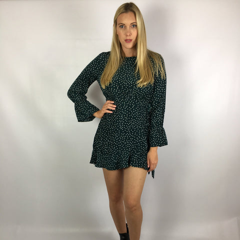 Mavis Dress Teal Spot