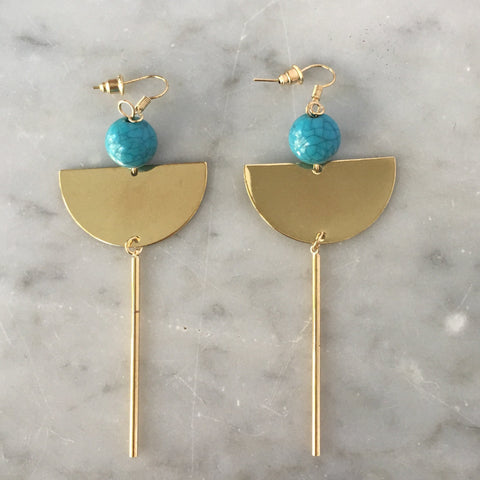 Sally Drop Earrings Turquoise