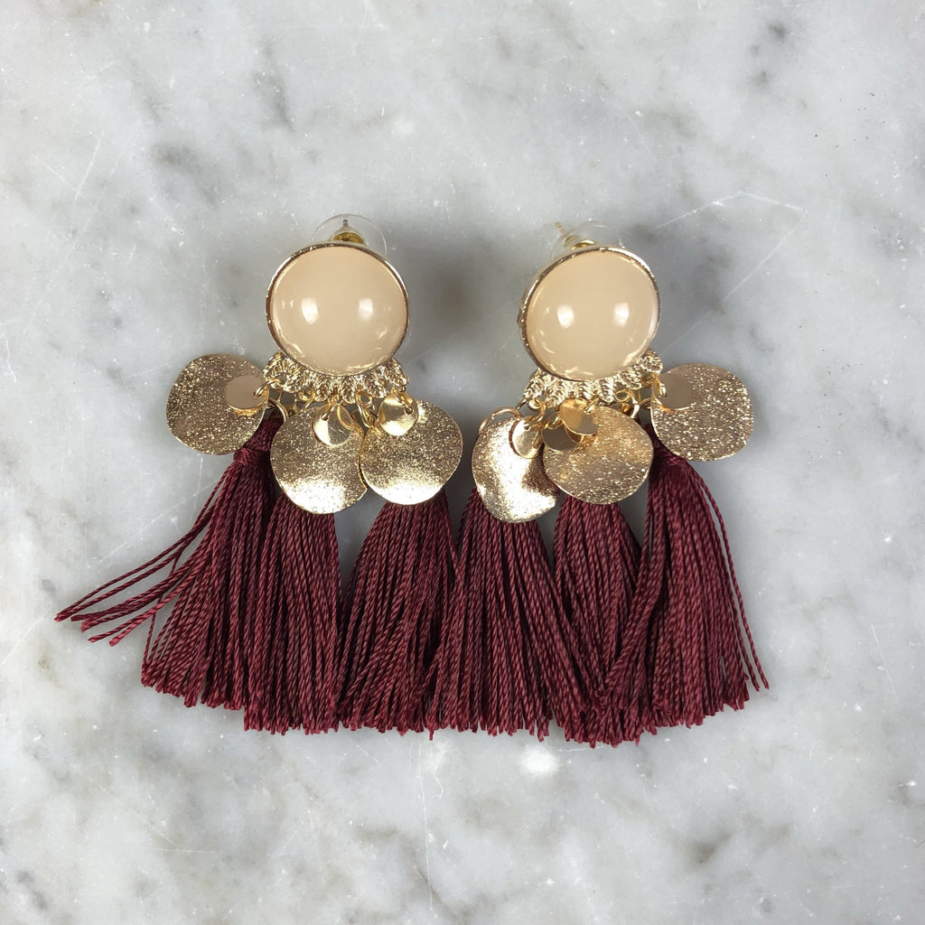 Tassel Earrings Gypsy Red