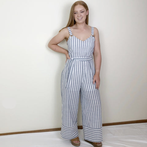 Andie Jumpsuit Navy Stripe