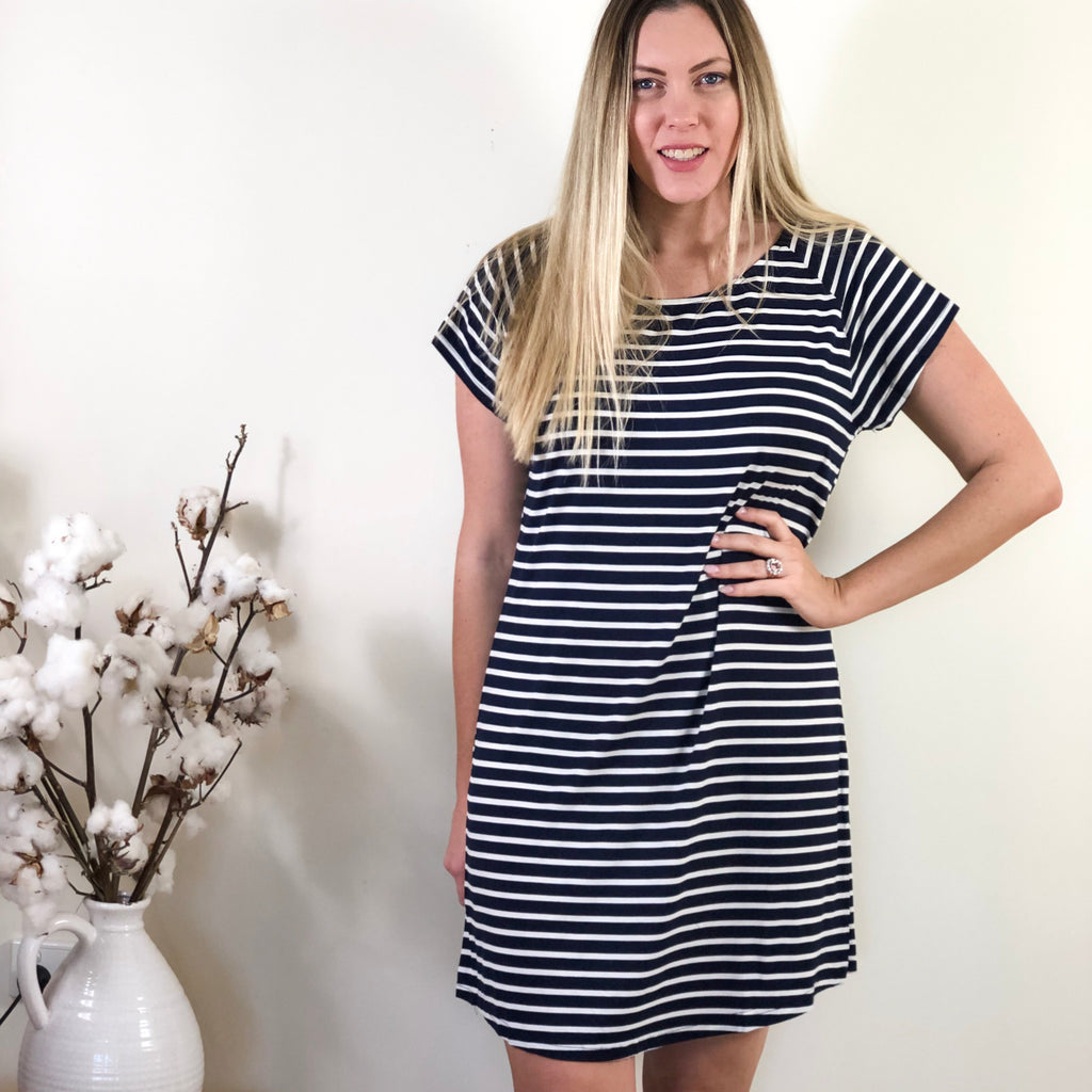 Bette Tee Dress Navy