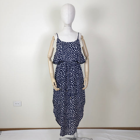 Elsie Dress Navy Spot