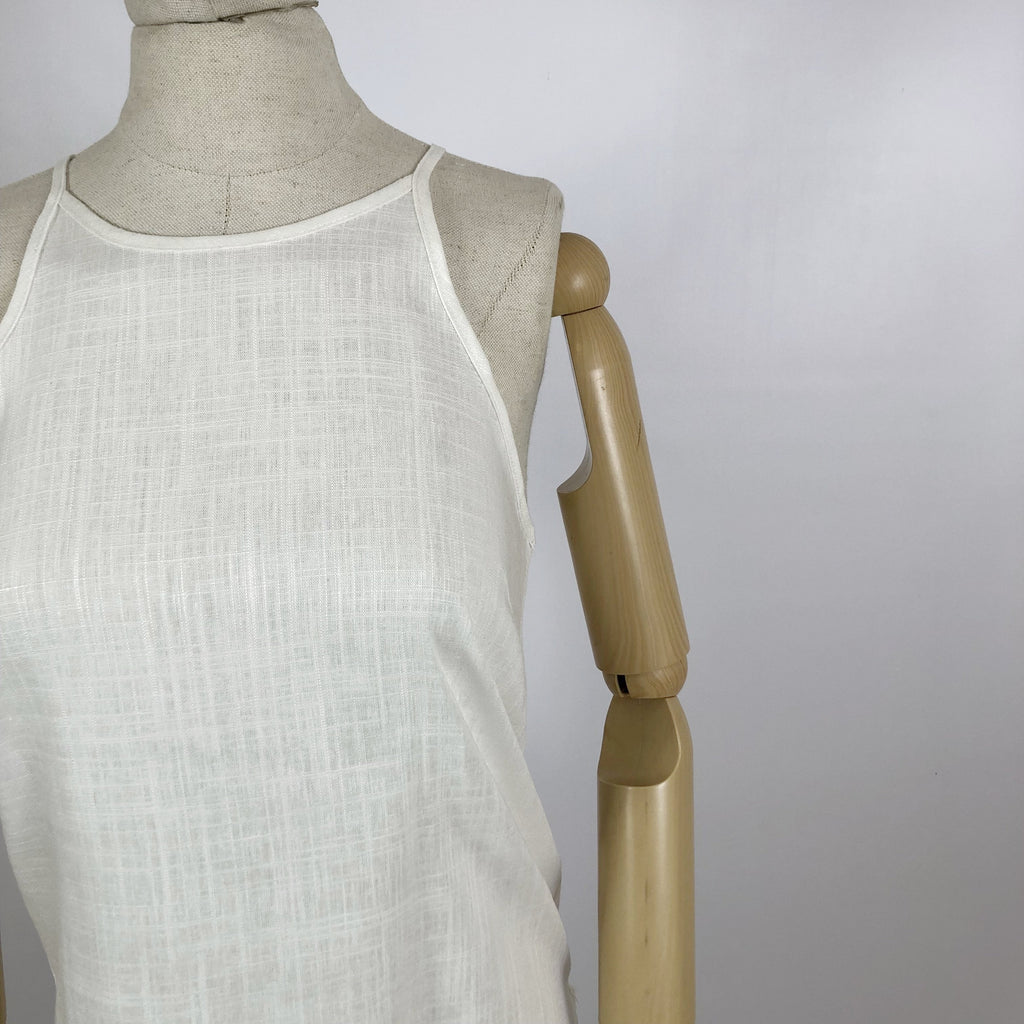 Sally Top White Linen
