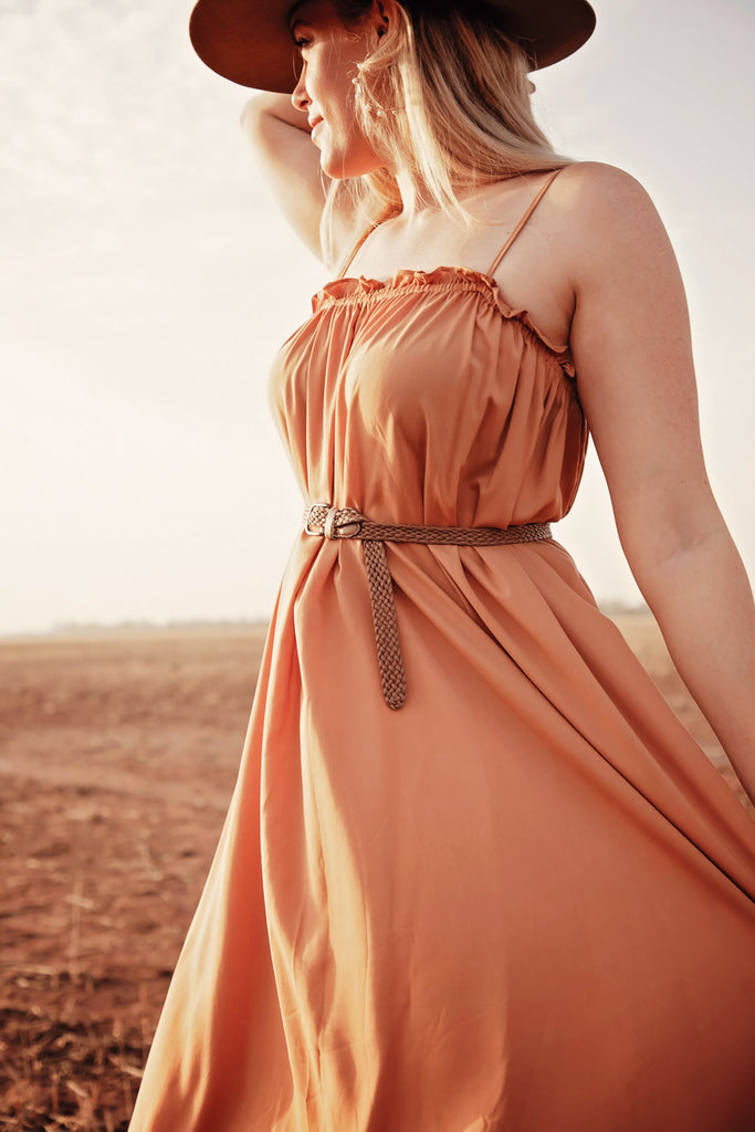 Skyler Dress Rust