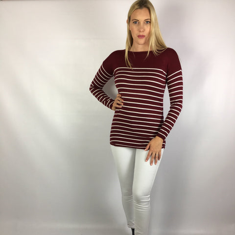 Mary Fine Knit Jumper Berry