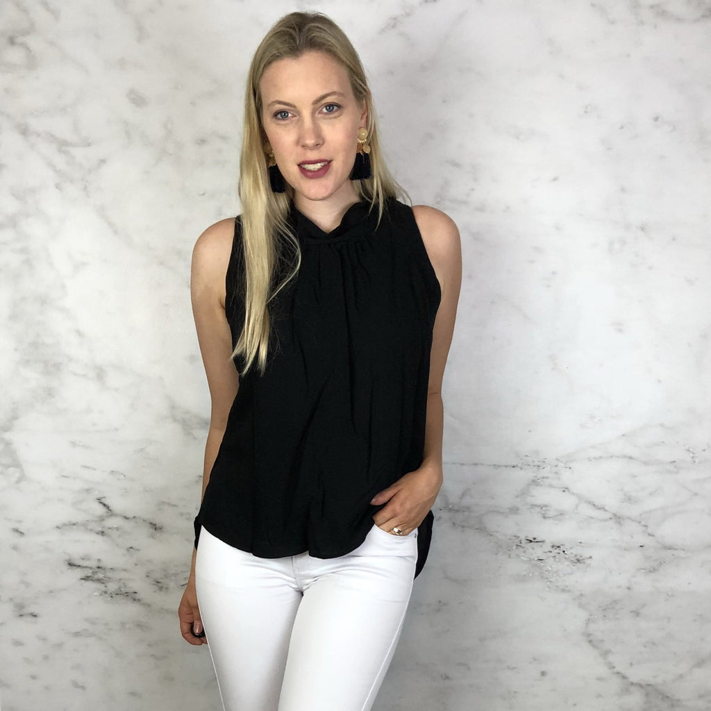 Betsy Blouse Black and Blue